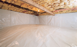 Crawl Space Moisture Barrier After in Saint Paul