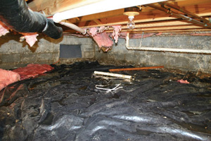 Crawl Space Repair Before in Minneapolis