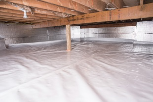 crawl space vapor barrier in Coon Rapids installed by our contractors