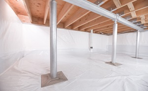 Crawl space structural support jacks installed in Maple Grove
