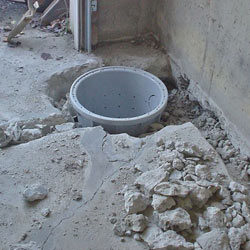 Placing a sump pit in a Inver Grove Heights home