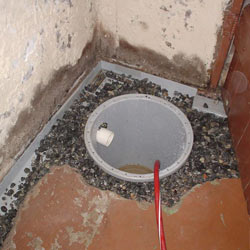 Installing a sump in a sump pump liner in a Rochester home