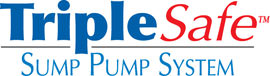 Sump pump system logo for our TripleSafe™, available in areas like Maple Grove