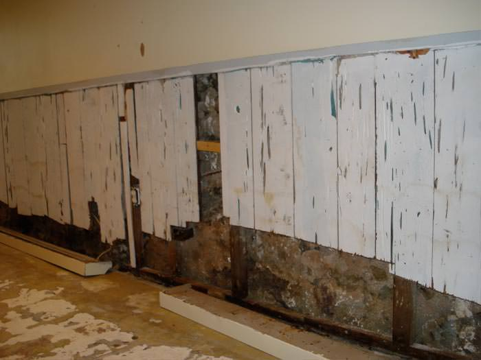 a wet flooded finished basement in circle pines