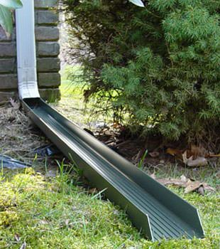 Gutter downspout extension installed in Champlin
