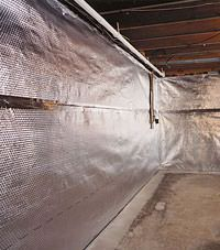 Radiant heat barrier and vapor barrier for finished basement walls in Anoka, Minnesota